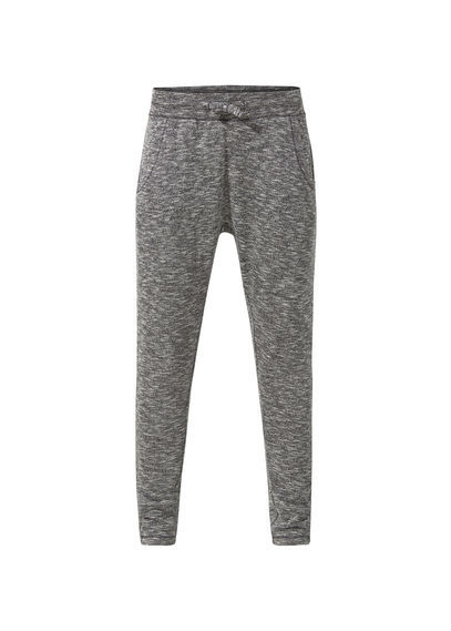 Relaxed Long Trousers - length: standard; pattern: plain; waist detail: belted waist/tie at waist/drawstring; waist: mid/regular rise; predominant colour: mid grey; secondary colour: mid grey; occasions: casual, activity; fibres: cotton - stretch; fit: slim leg; pattern type: fabric; texture group: jersey - stretchy/drapey; style: standard; season: a/w 2016