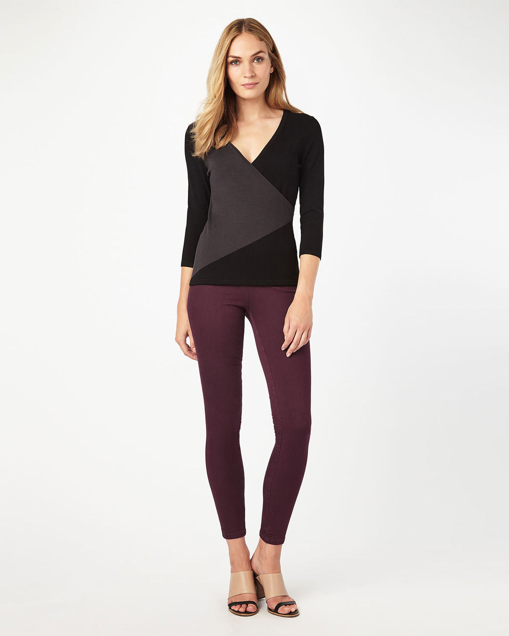 Amina Darted Jegging - style: skinny leg; length: standard; pattern: plain; pocket detail: traditional 5 pocket; waist: mid/regular rise; predominant colour: burgundy; occasions: casual, creative work; fibres: cotton - stretch; texture group: denim; pattern type: fabric; season: a/w 2016; wardrobe: highlight