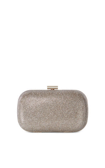 Sparkle Clutch - predominant colour: silver; occasions: evening, occasion; type of pattern: standard; style: clutch; length: hand carry; size: small; material: fabric; embellishment: glitter; pattern: plain; finish: metallic; season: a/w 2016; wardrobe: event