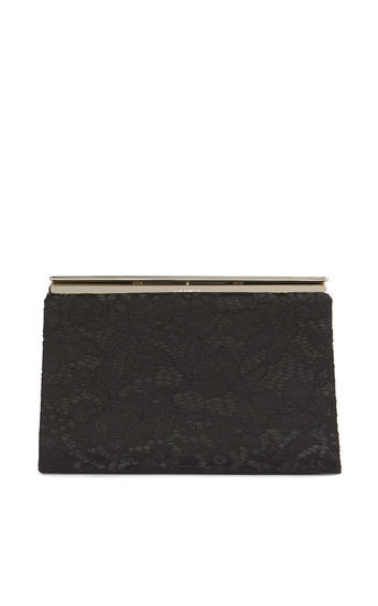 Lace Clutch - predominant colour: black; occasions: evening; type of pattern: standard; style: clutch; length: hand carry; size: standard; material: lace; pattern: plain; finish: plain; season: a/w 2016; wardrobe: event