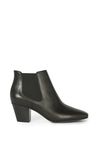 Cuban Boots - predominant colour: black; occasions: casual, creative work; material: leather; heel height: high; heel: block; toe: pointed toe; boot length: ankle boot; style: standard; finish: plain; pattern: plain; season: a/w 2016; wardrobe: highlight