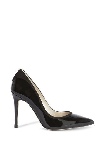 Patent And Suede Court - predominant colour: black; occasions: evening, occasion, creative work; material: leather; heel: stiletto; toe: pointed toe; style: courts; finish: patent; pattern: plain; heel height: very high; season: a/w 2016; wardrobe: highlight
