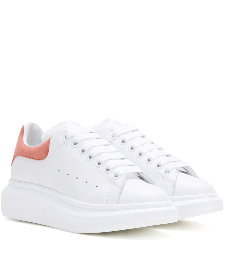 Larry Leather Sneakers - predominant colour: white; occasions: casual; material: leather; heel height: flat; toe: round toe; style: trainers; finish: plain; pattern: plain; shoe detail: platform; season: a/w 2016; wardrobe: highlight
