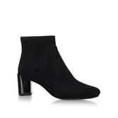 Falup2 - predominant colour: black; occasions: casual, creative work; material: suede; heel height: high; heel: block; toe: round toe; boot length: ankle boot; style: standard; finish: plain; pattern: plain; season: a/w 2016