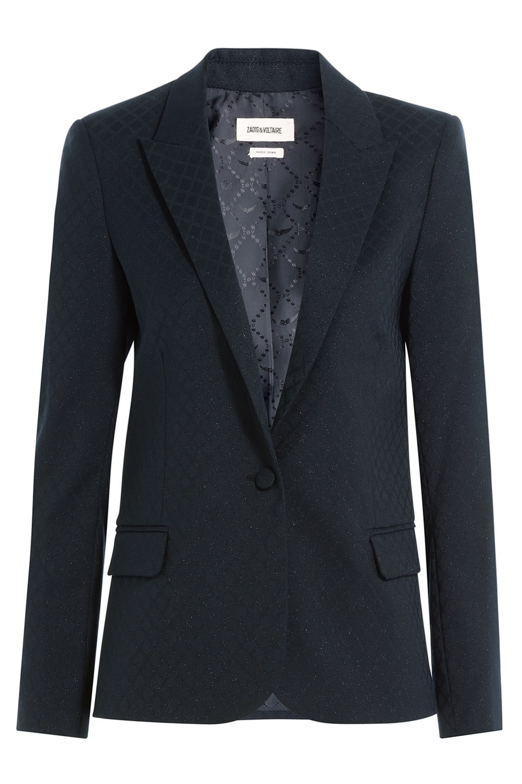 Tailored Blazer With Wool Black - pattern: plain; style: single breasted blazer; collar: standard lapel/rever collar; predominant colour: black; occasions: work; length: standard; fit: tailored/fitted; fibres: wool - mix; sleeve length: long sleeve; sleeve style: standard; collar break: low/open; pattern type: fabric; texture group: other - light to midweight; wardrobe: investment; season: a/w 2016