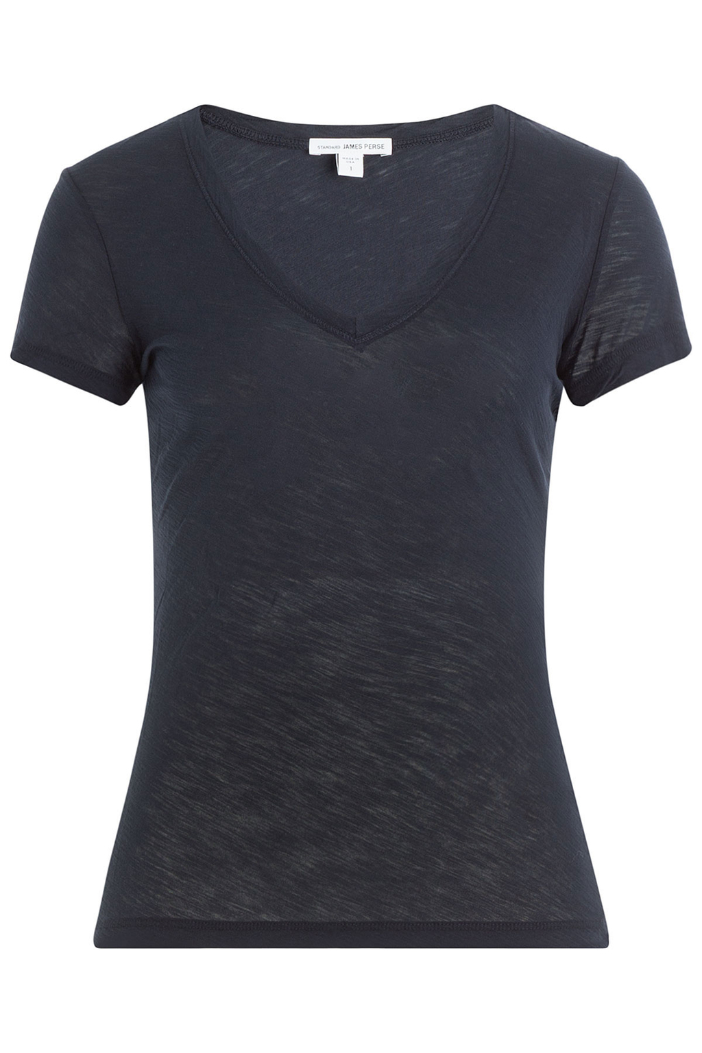 Cotton T Shirt Blue - neckline: v-neck; pattern: plain; style: t-shirt; predominant colour: navy; occasions: casual; length: standard; fibres: cotton - 100%; fit: body skimming; sleeve length: short sleeve; sleeve style: standard; pattern type: fabric; texture group: jersey - stretchy/drapey; wardrobe: basic; season: a/w 2016