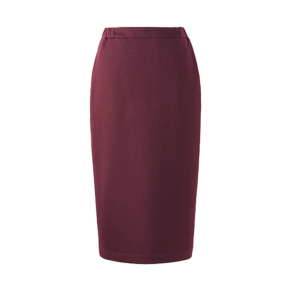 Women Jersey Pencil Skirt (5 Colours) Wine - length: calf length; pattern: plain; style: pencil; fit: tailored/fitted; waist: mid/regular rise; predominant colour: purple; occasions: evening; fibres: polyester/polyamide - mix; pattern type: fabric; texture group: jersey - stretchy/drapey; season: a/w 2016; wardrobe: event