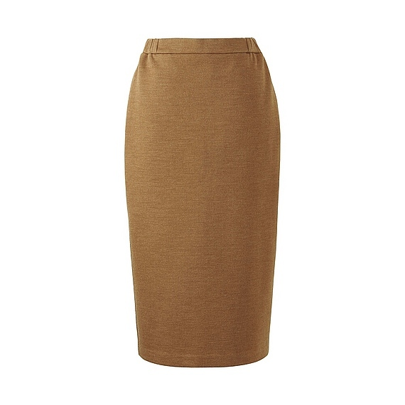 Women Jersey Pencil Skirt (5 Colours) Beige - length: calf length; pattern: plain; style: pencil; fit: tailored/fitted; waist: mid/regular rise; predominant colour: camel; occasions: work; fibres: polyester/polyamide - mix; pattern type: fabric; texture group: jersey - stretchy/drapey; wardrobe: basic; season: a/w 2016