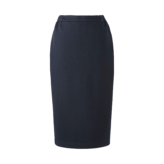 Women Jersey Pencil Skirt (5 Colours) Navy - length: calf length; pattern: plain; style: pencil; fit: body skimming; waist: mid/regular rise; predominant colour: navy; occasions: work; fibres: polyester/polyamide - mix; pattern type: fabric; texture group: jersey - stretchy/drapey; wardrobe: basic; season: a/w 2016