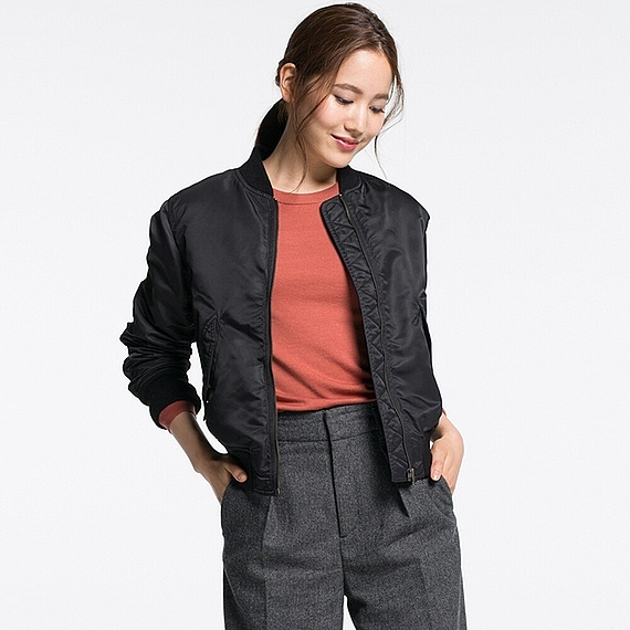 Women Ma 1 Bomber Jacket (5 Colours) Black - pattern: plain; collar: round collar/collarless; fit: slim fit; style: bomber; predominant colour: black; occasions: casual; length: standard; fibres: nylon - 100%; sleeve length: long sleeve; sleeve style: standard; collar break: high; pattern type: fabric; texture group: other - light to midweight; season: a/w 2016; wardrobe: highlight; embellishment location: bust