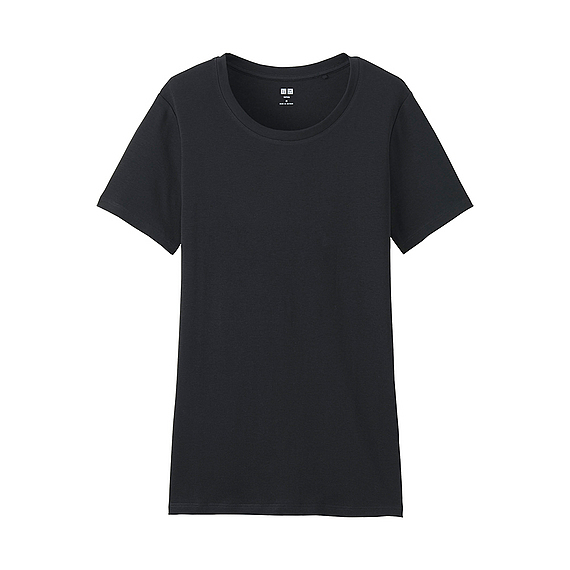 Women Supima Cotton Crew Neck T Shirt (8 Colours) Black - pattern: plain; style: t-shirt; predominant colour: black; occasions: casual; length: standard; fibres: cotton - 100%; fit: body skimming; neckline: crew; sleeve length: short sleeve; sleeve style: standard; pattern type: fabric; texture group: jersey - stretchy/drapey; wardrobe: basic; season: a/w 2016