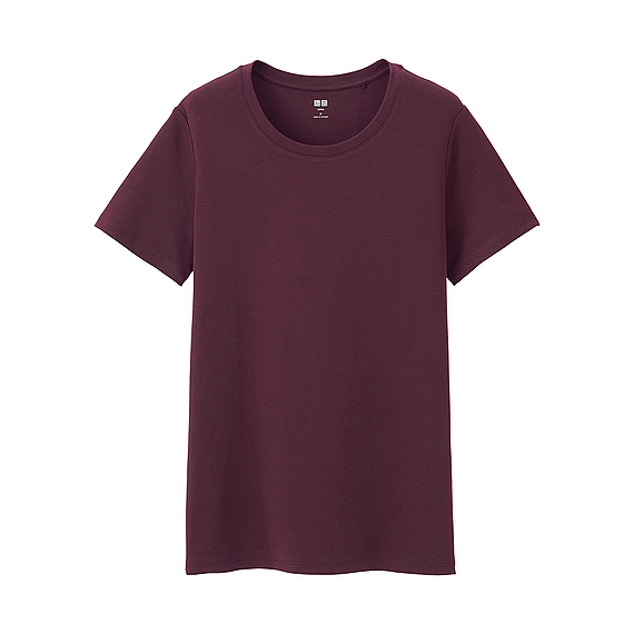 Women Supima Cotton Crew Neck T Shirt (8 Colours) Wine - pattern: plain; style: t-shirt; predominant colour: aubergine; occasions: casual; length: standard; fibres: cotton - 100%; fit: body skimming; neckline: crew; sleeve length: short sleeve; sleeve style: standard; pattern type: fabric; texture group: jersey - stretchy/drapey; season: a/w 2016; wardrobe: highlight
