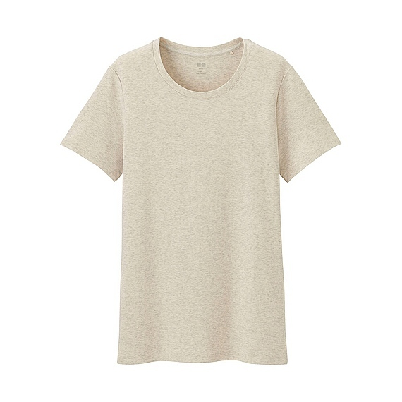 Women Supima Cotton Crew Neck T Shirt (8 Colours) Natural - pattern: plain; style: t-shirt; predominant colour: stone; occasions: casual; length: standard; fibres: cotton - 100%; fit: body skimming; neckline: crew; sleeve length: short sleeve; sleeve style: standard; pattern type: fabric; texture group: jersey - stretchy/drapey; wardrobe: basic; season: a/w 2016