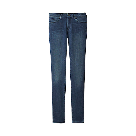 Women Ultra Stretch Jeans Blue - style: straight leg; length: standard; pattern: plain; pocket detail: traditional 5 pocket; waist: mid/regular rise; predominant colour: navy; occasions: casual; fibres: cotton - stretch; jeans detail: dark wash; texture group: denim; pattern type: fabric; wardrobe: basic; season: a/w 2016
