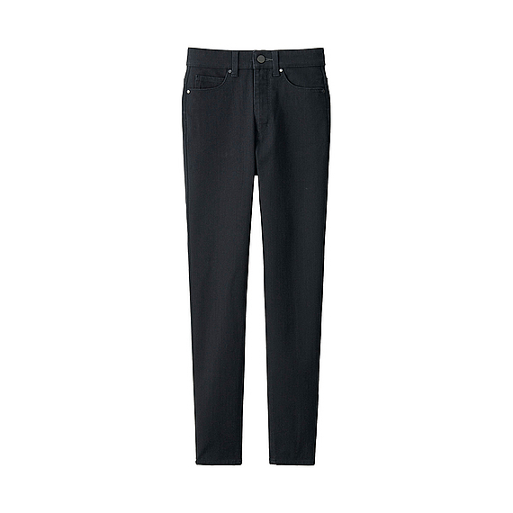 Women Ultra Stretch High Rise Ankle Jeans (6 Colours) Black - length: standard; pattern: plain; pocket detail: traditional 5 pocket; style: slim leg; waist: mid/regular rise; predominant colour: black; occasions: casual, evening, creative work; fibres: cotton - stretch; texture group: denim; pattern type: fabric; season: a/w 2016