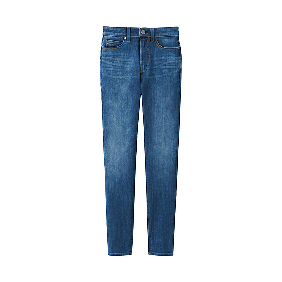Women Ultra Stretch High Rise Ankle Jeans (6 Colours) Blue - length: standard; pattern: plain; pocket detail: traditional 5 pocket; style: slim leg; waist: mid/regular rise; predominant colour: denim; occasions: casual; fibres: cotton - stretch; jeans detail: whiskering, shading down centre of thigh; texture group: denim; pattern type: fabric; wardrobe: basic; season: a/w 2016