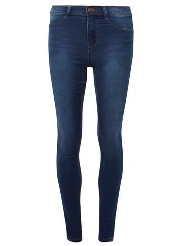 Womens **Tall Midwash Authentic 'frankie' Ultra Soft Jeggings Blue - length: standard; pattern: plain; style: jeggings; waist: mid/regular rise; predominant colour: navy; occasions: casual; fibres: cotton - stretch; texture group: denim; pattern type: fabric; wardrobe: basic; season: a/w 2016