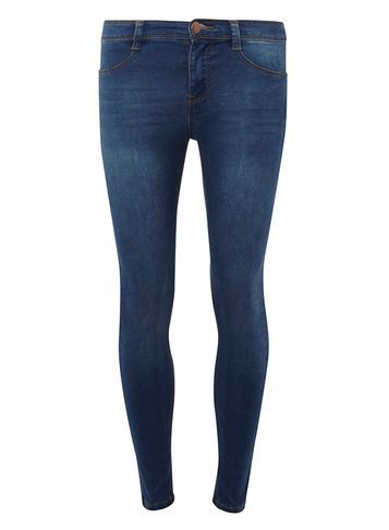 Womens Petite Vintage Blue Frankie Jeans Blue - style: skinny leg; length: standard; pattern: plain; pocket detail: traditional 5 pocket; waist: mid/regular rise; predominant colour: navy; occasions: casual, creative work; fibres: cotton - stretch; jeans detail: dark wash; texture group: denim; pattern type: fabric; wardrobe: basic; season: a/w 2016
