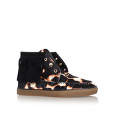 Ballico5 - secondary colour: stone; predominant colour: black; occasions: casual; material: leather; heel height: flat; heel: block; toe: round toe; boot length: ankle boot; style: high top; finish: plain; pattern: animal print; season: a/w 2016; wardrobe: highlight