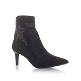 Dreamer - predominant colour: black; occasions: casual, evening, creative work; material: suede; heel height: high; heel: stiletto; toe: pointed toe; boot length: ankle boot; style: standard; finish: plain; pattern: plain; season: a/w 2016; wardrobe: highlight