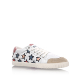 Majestic - predominant colour: white; occasions: casual; material: leather; heel height: flat; toe: round toe; style: trainers; finish: plain; pattern: patterned/print; multicoloured: multicoloured; season: a/w 2016; wardrobe: highlight