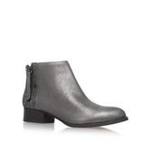 Catile - predominant colour: mid grey; occasions: casual, creative work; material: leather; heel height: flat; heel: block; toe: round toe; boot length: ankle boot; style: standard; finish: metallic; pattern: plain; wardrobe: basic; season: a/w 2016