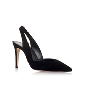 Acorn - predominant colour: black; occasions: evening, work, occasion; material: leather; heel height: high; heel: stiletto; toe: pointed toe; style: slingbacks; finish: plain; pattern: plain; wardrobe: investment; season: a/w 2016