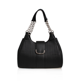 Roxanna Shldr Bag Md - predominant colour: black; occasions: casual, creative work; type of pattern: standard; style: shoulder; length: shoulder (tucks under arm); size: standard; material: leather; pattern: plain; finish: plain; season: a/w 2016