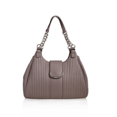 Roxanna Shldr Bag Md - predominant colour: mid grey; occasions: casual, work, creative work; type of pattern: standard; style: shoulder; length: shoulder (tucks under arm); size: standard; material: faux leather; pattern: plain; finish: plain; wardrobe: investment; season: a/w 2016
