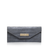 Nell Envelope Walllet - predominant colour: light grey; occasions: evening, occasion, bridalwear; type of pattern: standard; style: clutch; length: hand carry; size: small; material: leather; pattern: animal print; finish: plain; season: a/w 2016