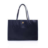 Amelia Ew Tote Lg - predominant colour: navy; occasions: work; type of pattern: standard; style: tote; length: handle; size: standard; material: leather; pattern: plain; finish: plain; wardrobe: investment; season: a/w 2016