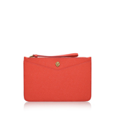 Frances Wristelet Lg - predominant colour: bright orange; occasions: evening; type of pattern: standard; style: clutch; length: hand carry; size: small; material: leather; pattern: plain; finish: plain; season: a/w 2016; wardrobe: event