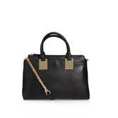 Keena Satchel - predominant colour: black; type of pattern: standard; style: satchel; length: across body/long; size: standard; material: leather; pattern: plain; finish: plain; occasions: creative work; wardrobe: basic; season: a/w 2016