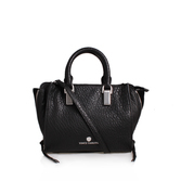 Riley Small Satchel - predominant colour: black; occasions: work, creative work; type of pattern: standard; style: tote; length: handle; size: standard; material: leather; pattern: plain; finish: plain; wardrobe: investment; season: a/w 2016