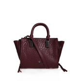 Riley Small Satchel - predominant colour: black; occasions: casual, work, creative work; type of pattern: standard; style: tote; length: handle; size: standard; material: leather; pattern: plain; finish: plain; wardrobe: investment; season: a/w 2016