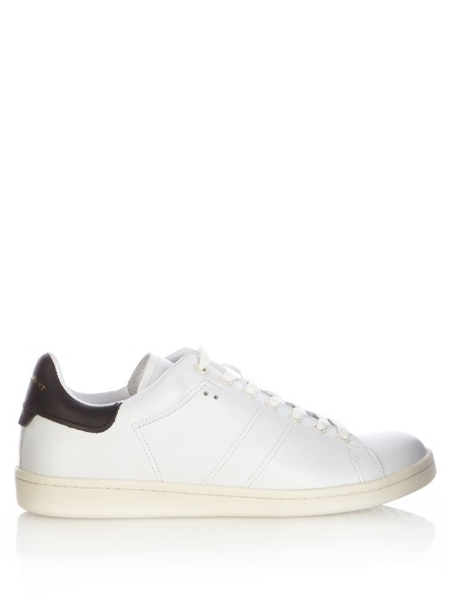 Bart Leather Trainers - predominant colour: white; secondary colour: black; occasions: casual; material: leather; heel height: flat; toe: round toe; style: trainers; finish: plain; pattern: plain; multicoloured: multicoloured; season: a/w 2016