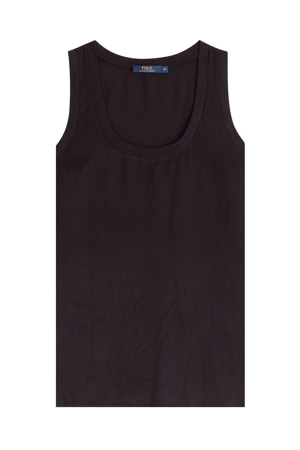 Tank Top Black - neckline: round neck; pattern: plain; sleeve style: sleeveless; style: vest top; predominant colour: black; occasions: casual; length: standard; fibres: viscose/rayon - 100%; fit: body skimming; sleeve length: sleeveless; pattern type: fabric; texture group: jersey - stretchy/drapey; season: s/s 2016