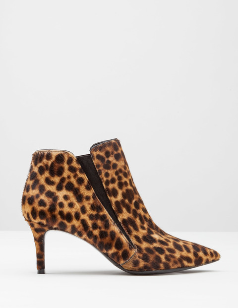 Alice Mid Heel Boot Tan Leopard Pony Women, Tan Leopard Pony - predominant colour: camel; secondary colour: black; material: suede; heel height: high; heel: stiletto; toe: pointed toe; boot length: ankle boot; style: standard; finish: plain; pattern: animal print; occasions: creative work; season: a/w 2016; wardrobe: highlight