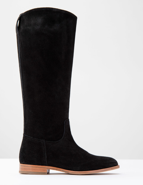 Long Suede Boot Black Suede Women, Black Suede - predominant colour: black; occasions: casual, creative work; material: suede; heel height: flat; heel: standard; toe: round toe; boot length: knee; style: standard; finish: plain; pattern: plain; wardrobe: investment; season: a/w 2016