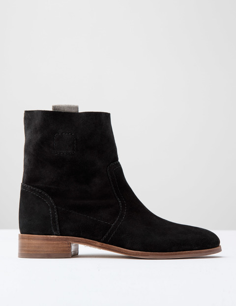 Suede Ankle Boot Black Suede Women, Black Suede - predominant colour: black; occasions: casual; material: suede; heel height: mid; heel: standard; toe: round toe; boot length: ankle boot; style: standard; finish: plain; pattern: plain; wardrobe: basic; season: a/w 2016