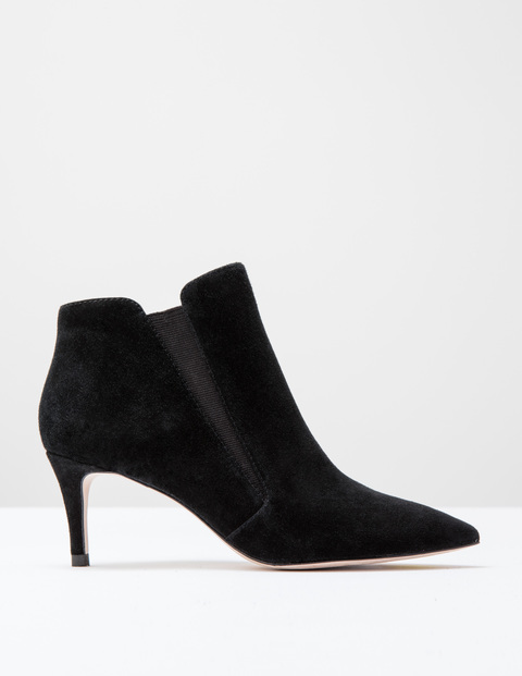 Alice Mid Heel Boot Black Suede Women, Black Suede - predominant colour: black; occasions: casual; material: suede; heel height: mid; heel: stiletto; toe: pointed toe; boot length: mid calf; style: standard; finish: plain; pattern: plain; wardrobe: basic; season: a/w 2016