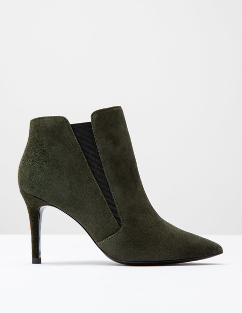 Alice High Heel Boot Military Green Suede Women, Military Green Suede - predominant colour: dark green; occasions: casual, creative work; material: suede; heel height: high; heel: stiletto; toe: pointed toe; boot length: ankle boot; style: standard; finish: plain; pattern: plain; season: a/w 2016; wardrobe: highlight