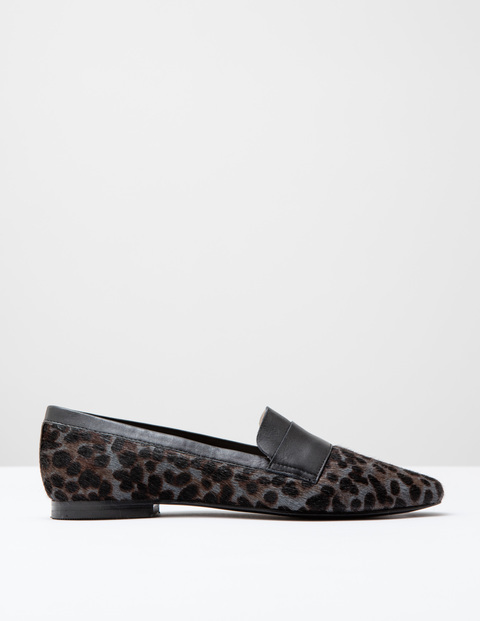 Pony Slipper Shoe Khaki Leopard Pony/Black Women, Khaki Leopard Pony/Black - predominant colour: khaki; occasions: casual, creative work; material: animal skin; heel height: flat; toe: pointed toe; style: loafers; finish: plain; pattern: animal print; season: a/w 2016
