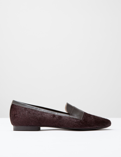 Pony Slipper Shoe Oxblood Pony Women, Oxblood Pony - predominant colour: burgundy; occasions: casual, creative work; material: animal skin; heel height: flat; toe: round toe; style: loafers; finish: plain; pattern: plain; season: a/w 2016