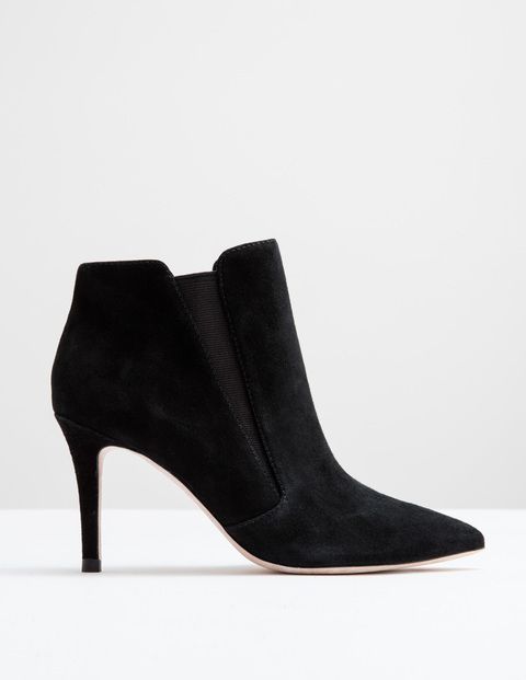 Alice High Heel Boot Black Suede Women, Black Suede - predominant colour: black; occasions: casual, creative work; material: suede; heel height: high; heel: stiletto; toe: pointed toe; boot length: ankle boot; style: standard; finish: plain; pattern: plain; season: a/w 2016; wardrobe: highlight