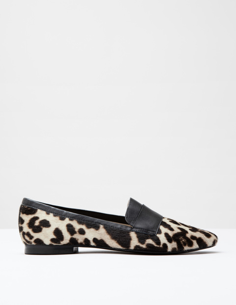 Pony Slipper Shoe Snow Leopard Pony/Black Women, Snow Leopard Pony/Black - predominant colour: black; occasions: casual, creative work; material: animal skin; heel height: flat; toe: round toe; style: loafers; finish: plain; pattern: animal print; season: a/w 2016; wardrobe: highlight
