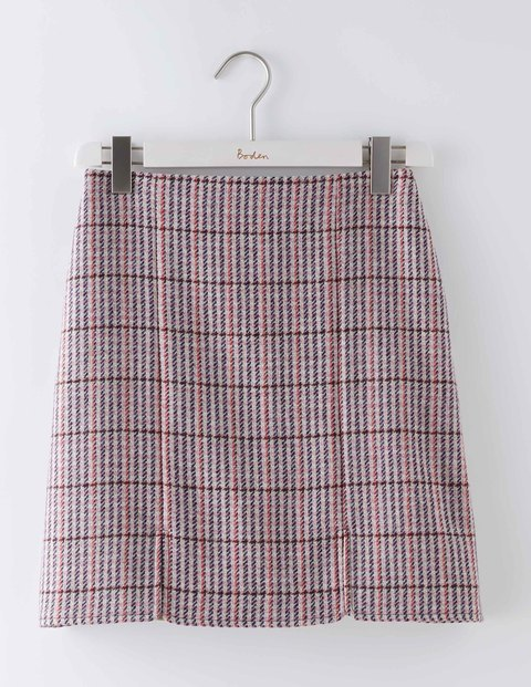 British Tweed Mini Multi Tweed Women, Multi Tweed - length: mini; pattern: checked/gingham; fit: loose/voluminous; waist: high rise; predominant colour: pink; secondary colour: charcoal; occasions: casual, creative work; style: mini skirt; fibres: wool - 100%; pattern type: fabric; texture group: woven light midweight; pattern size: standard (bottom); season: a/w 2016