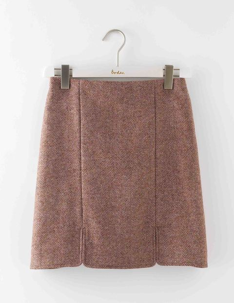 British Tweed Mini Pink Herringbone Women, Pink Herringbone - length: mini; fit: body skimming; pattern: herringbone/tweed; waist: mid/regular rise; predominant colour: pink; occasions: casual, creative work; style: mini skirt; fibres: wool - 100%; pattern type: fabric; texture group: woven light midweight; season: a/w 2016; wardrobe: highlight