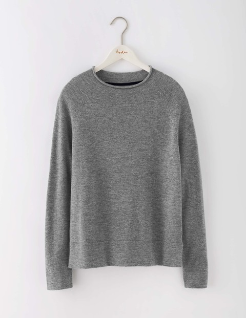 Supersoft Jumper Grey Melange Women, Grey Melange - neckline: round neck; pattern: plain; style: standard; predominant colour: mid grey; occasions: casual, creative work; length: standard; fibres: wool - mix; fit: standard fit; sleeve length: long sleeve; sleeve style: standard; texture group: knits/crochet; pattern type: knitted - fine stitch; wardrobe: basic; season: a/w 2016