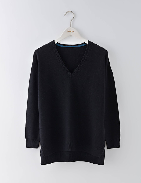 Textured V Neck Jumper Black Women, Black - neckline: v-neck; pattern: plain; style: standard; predominant colour: black; occasions: casual, work, creative work; length: standard; fibres: wool - mix; fit: loose; sleeve length: long sleeve; sleeve style: standard; texture group: knits/crochet; pattern type: knitted - fine stitch; wardrobe: basic; season: a/w 2016